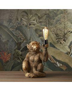 Tafellamp Abu - Zittend aapje - Goud