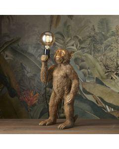 Tafellamp Koko - Staand aapje - Goud