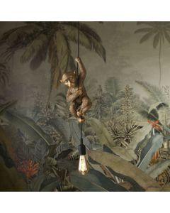 Plafondlamp Chip - Hangend aapje - Goud