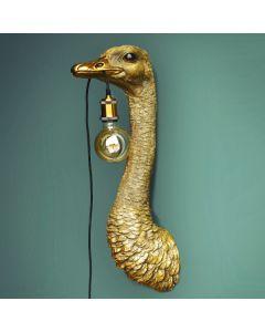 Wandlamp Struisvogel Franz Josef - Goud