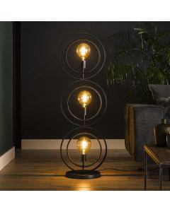 Vloerlamp Turn around - 3 lichts - Rond