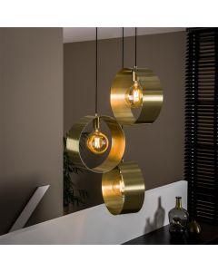 Hanglamp Vegas - Goud - Rond - Open - 3 lichts/getrapt
