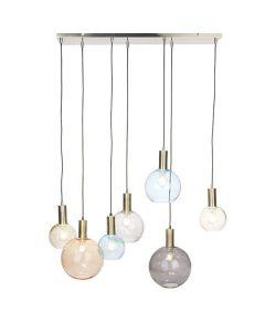Hanglamp Gaby 7-lichts - Glasbollen - Kleur